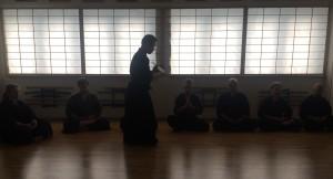 千葉道場にて行われた、平田冨峰師範による坐禅会
